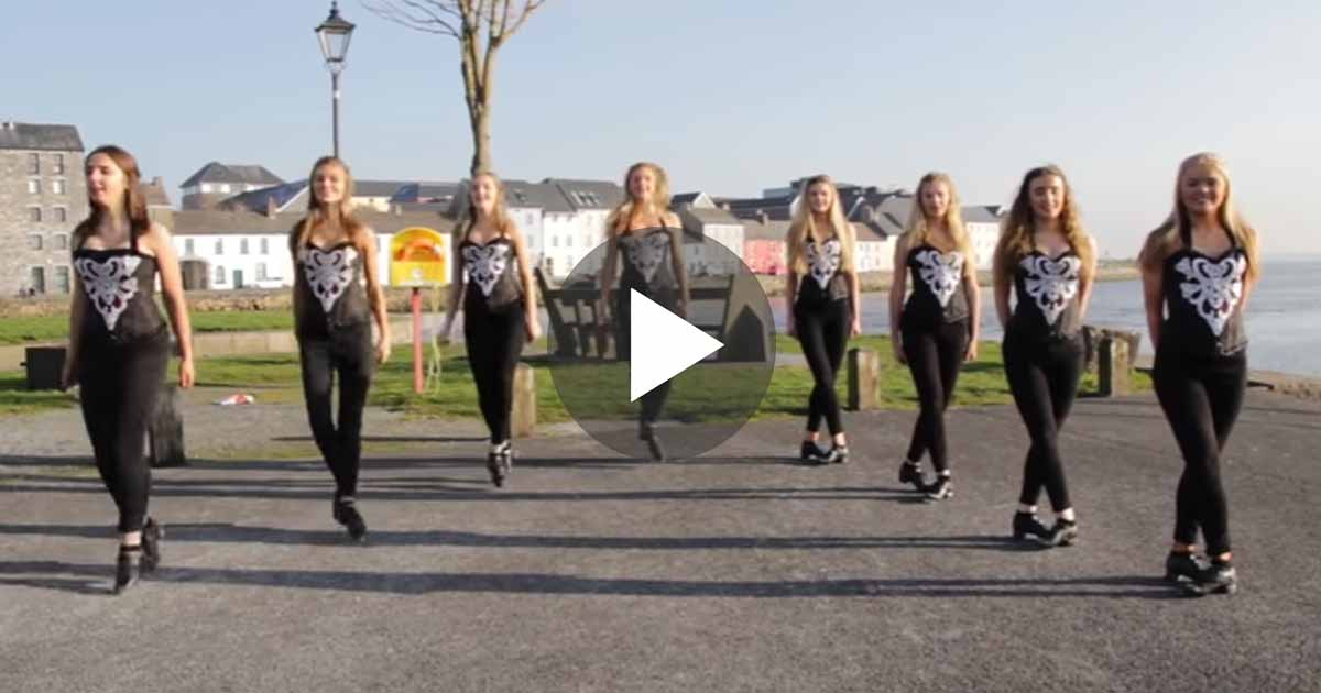 8 Irish Dancers Form A Line,What they Did Next Absolutely Amazing!!